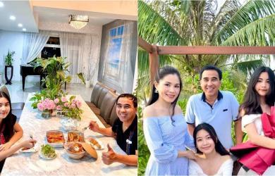 MC Quyền Linh vui vẻ ngồi ăn cùng con gái sau thời gian rong ruổi từ thiện mùa dịch